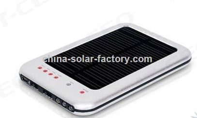 Wholesale 2600Mah Solar charger For MP3/MP4 Support USB / power adapter