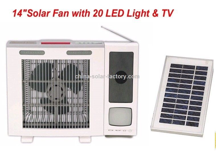 werbeartikel 14 zoll solar ventilator mit 20 led licht und. Black Bedroom Furniture Sets. Home Design Ideas