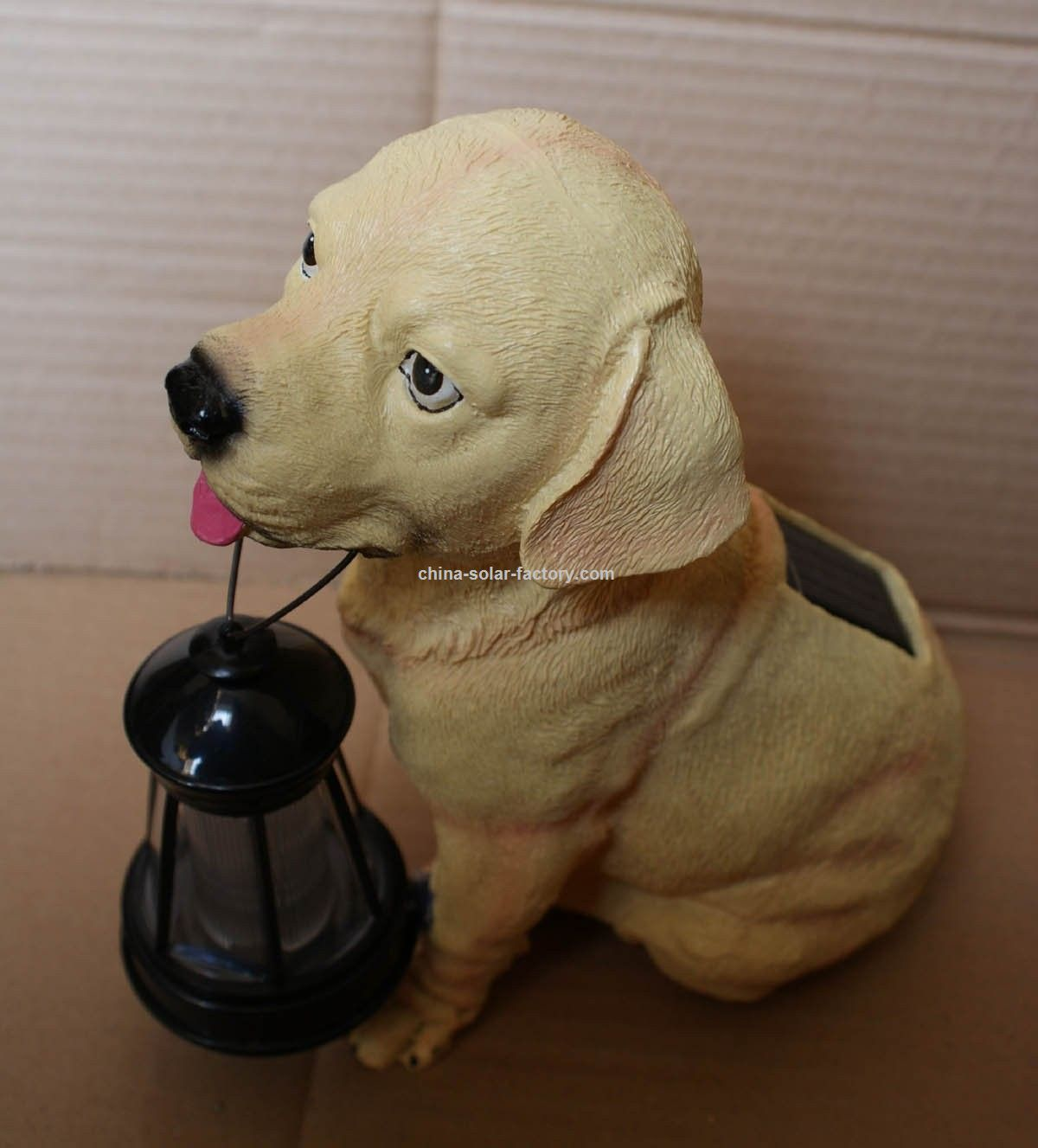 Resin Solar dog light solar LED light Solar lawn light Solar decorative light