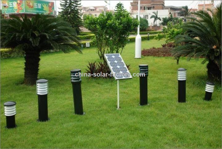 Luminária Solar Decorativa com Acabamento em Inox Tenha o jardim dos