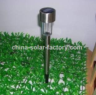 Promocional de acero inoxidable de luz solar jard n la - Lampara de jardin solar ...