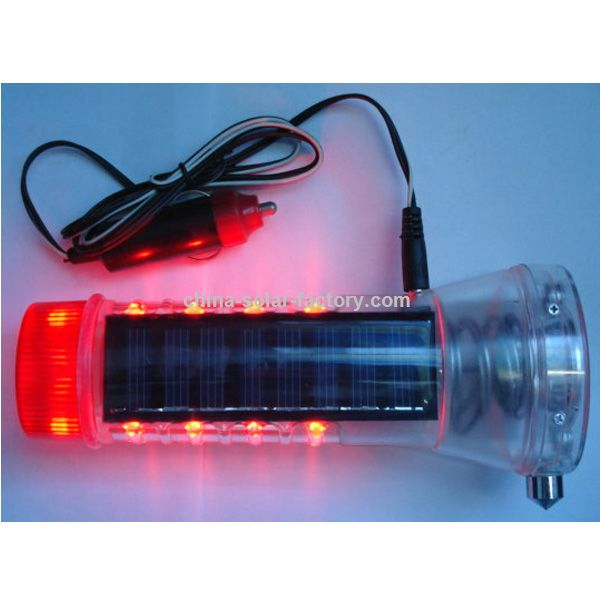 Multi-Functional Solar LED Flashlight