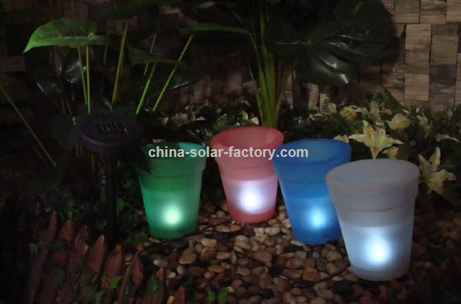 Flower Pot with Solar Light