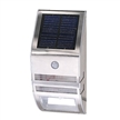 Solar Panel LED Wall Light in Stainless Steel