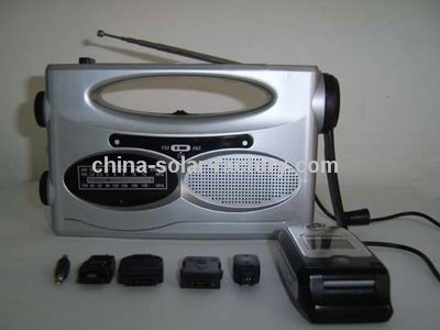 Solar Dynamo Radio with LED Flashlight