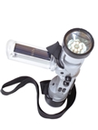 Solar Powered LED Flashlight with AM,FM Raido